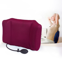 1Pcs Portable Inflatable Lumbar Support Lower Back Cushion Pillow For Office Chair And Car Sciatic Nerve