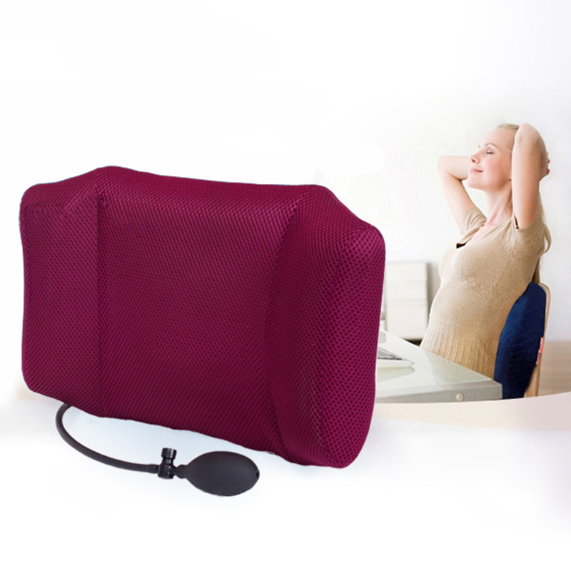 1Pcs Portable Inflatable Lumbar Support Lower Back Cushion Pillow - for Office Chair and Car Sciatic Nerve Pain Relief wellhouse wh00115 inflatable cushion waist pillow grey