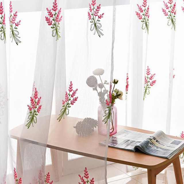 living for drapes kitchen products window white product embroidered curtains image bedroom sheer tulle modern voile room