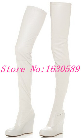 Popular Thigh High White Leather Boots-Buy Cheap Thigh High White