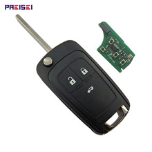 3 Buttons Complete Flip Car Remote Key For Opel Vauxhall Replace 433MHZ ID46 Electronic Chip On Board