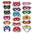 Avengers Super Hero Spiderman Batman Eye Mask Masquerade Cosplay For Boys Girls Birthday Party Dress Decoration
