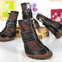 Dog Shoes Waterproof Winter Large Pet Goods For Supplies PU Leather Dog Rain Boots Rubber Unti