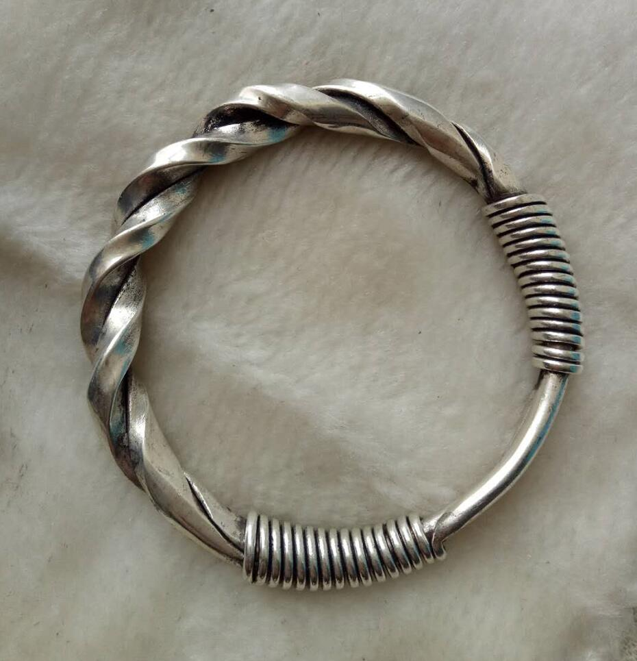charm wild Nepal Silver mens jewlery bracelet bangle