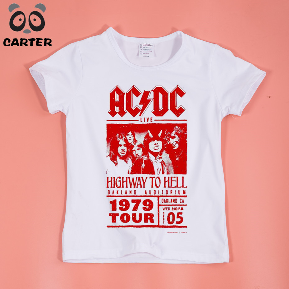 Children ACDC Rock Design T-Shirt Boys and Girls Short Sleeves Casual T Shirt Kids Tops Baby Clothing grey crossed front design cut out long sleeves t shirt