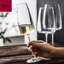 Europe Lead-free Crystalline Glass wine cup Red glass Goblet Household white champagne sparkling drinking