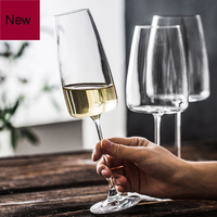 Europe Lead free Crystalline Glass wine cup Red wine glass Goblet Household white wine glass champagne sparkling drinking glass