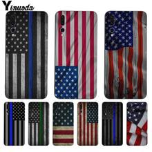 Yinuoda Blue Line American US FLAG Design ซิลิโคนนุ่มสำหรับ Huawei P9 P10 P10plus P20 P20pro NOVA2 honor9 10 V9 V10(China)