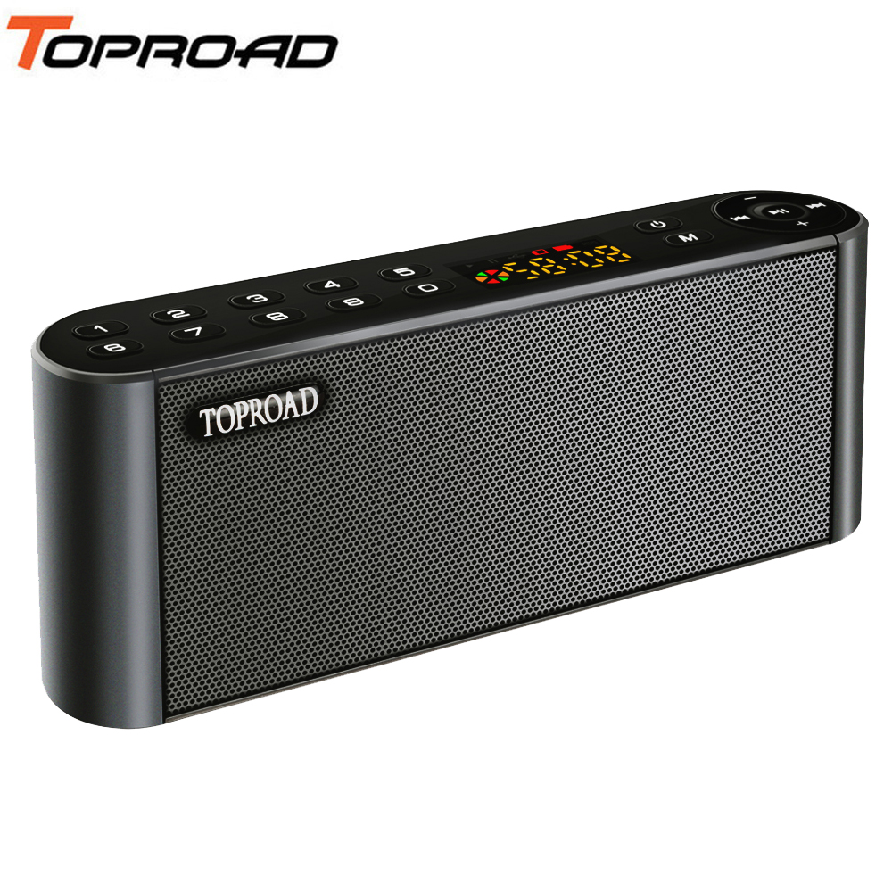 TOPROAD Wireless Bluetooth Speakers Portable Enceinte Speaker Handsfree MP3 With Mic TF FM HIFI Subwoofer Deep Bass Loudspeakers grille
