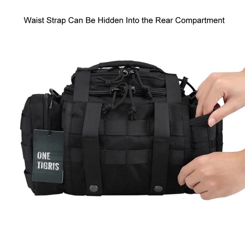 OneTigris tactique MOLLE chasse taille sac Pack pour hommes 3 voies modulaire déploiement utilitaire sac robuste avec bandoulière - 2