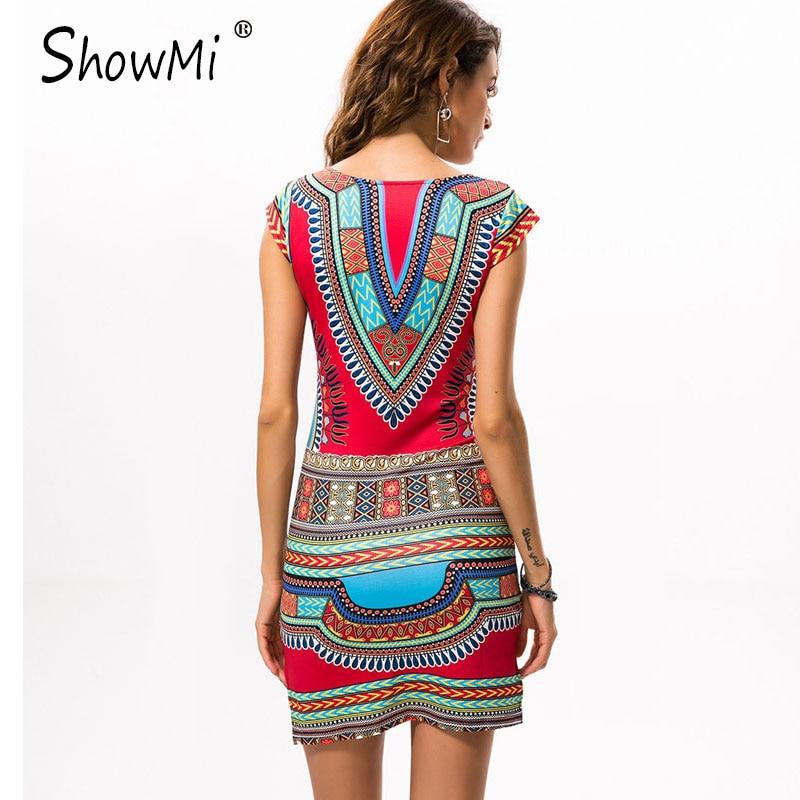 fc0997d05b1 New Ladies Summer Dress Casual 2018 Short V-neck Sexy African Dresses  Dashiki Traditional Print Mini Womens Beach Dress Vestidos