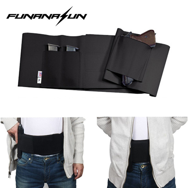 US $3 96 17% OFF|Tactical Belly Band Holster Concealed Carry Pistol Gun  Pouch Waist Bag Invisible Elastic Girdle Belt for Outdoor Sports Hunting  -in