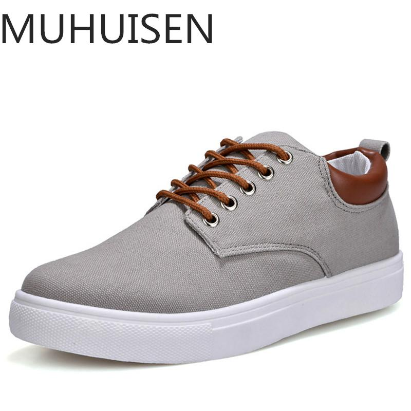 2018 New Arrival Spring Summer Comfortable Casual Shoes Mens Canvas Shoes For Men Lace-Up Brand Fashion Flat Loafers Shoe