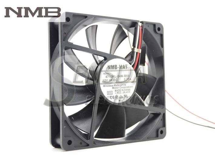 NMB 4710KL-04W-B59 12cm 120mm DC 12V 0.72A Dual ball bearing fan 12025 server chassis fan original delta afb0912shf 9032 9cm 12v 0 90a dual ball bearing cooling fan