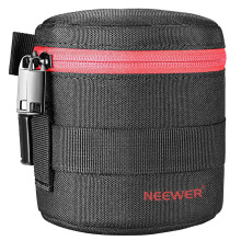Neewer NW L2020 Thick Padded Protective Water Resistant Lens Pouch for 18 55MM Lens for Canon