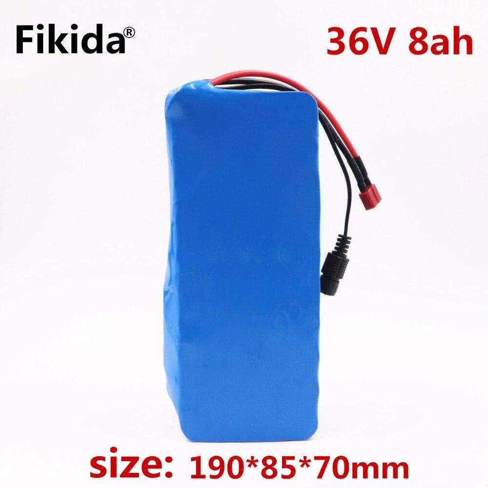 Fikida 36 v 8ah 500 w 18650 batterie au lithium 36 v 8AH Électrique vélo batterie avec PVC cas pour électrique vélo