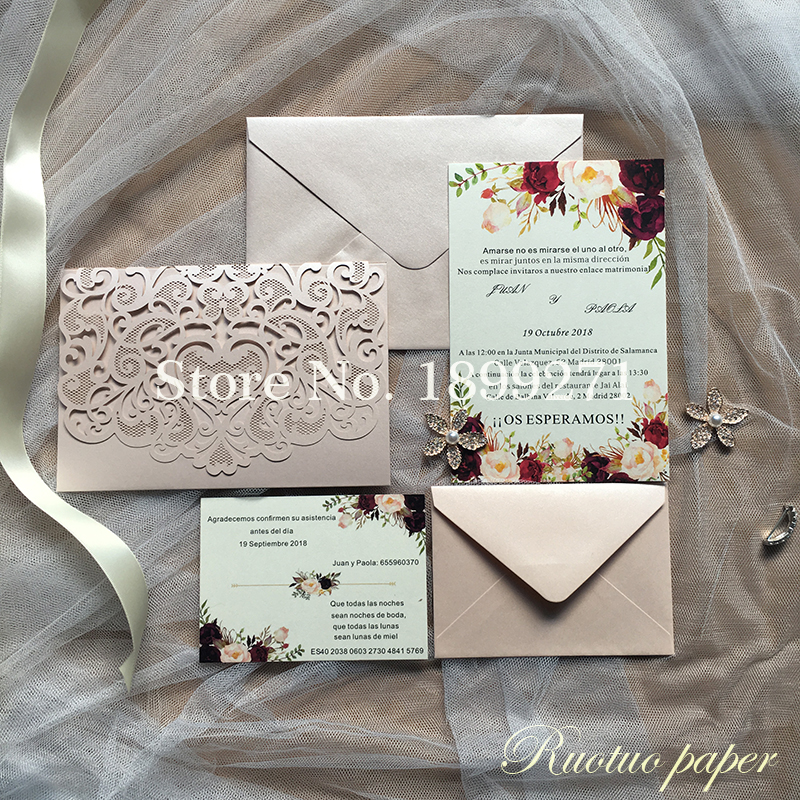 luxury wedding invitations festive invitation cards birthday invitaciones card various colors paper flowers wedding place cards