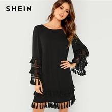 13de26369703a Black Shift Dress Promotion-Shop for Promotional Black Shift Dress ...