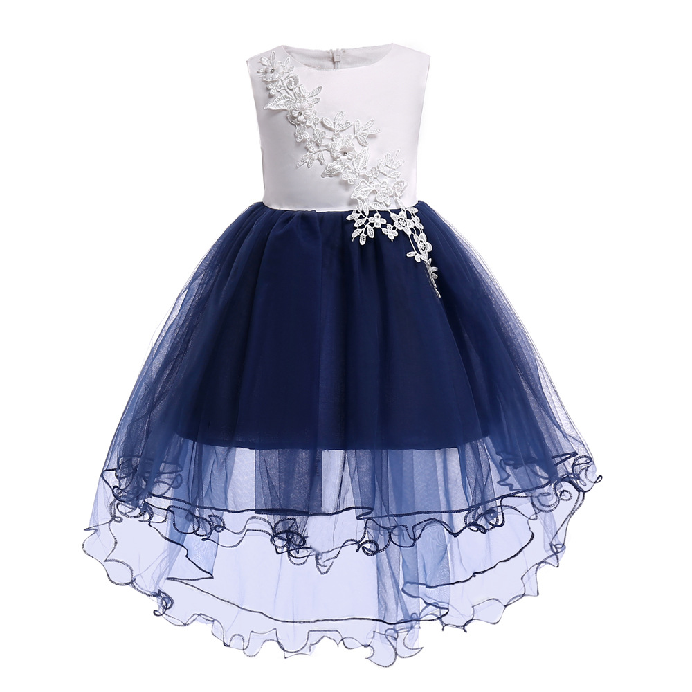 Children's dress 2018 new 3 4 5 6 7 8 10 years old flower Elegant Kids Girls Dresses princess party dress for baby tutu clothing girls maxi dresses baby clothes party tutu dress flower girls wedding princess dress kids 4t 5 6 7 8 9 10 11 12 13 15 years old