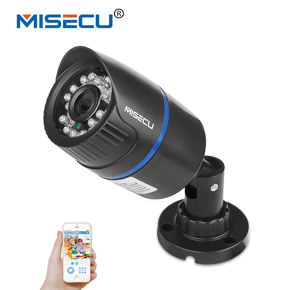 MISECU HD POE 960P 1.3MP IP Camera 48VPoE Power Over Ethernet Out/Indoor ONVIF HI3518E ABS Waterproof Night Vision P2P Plug&Play misecu 48vpoe 1080p outdoor full hd 2mp poe ip camera poe 802 3af metal out indoor night vision p2p home security xmeye app