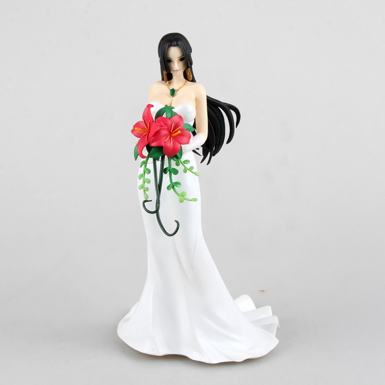 1 Pcs Japanese Anime One Piece POP Female Emperor Boa Hancock Sexy Wedding Dress PVC Action Figure Model Collectible Toy Boys free shipping new anime one piece boa hancock pvc action figure hancock fighting style figure model toy 15cm