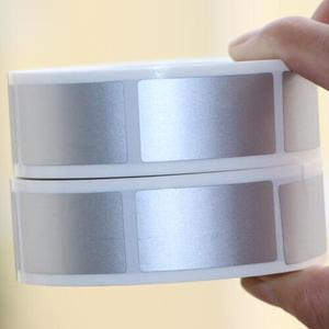 Image 3 - 23x42mm/25x25mm silver adhesive SCRATCH OFF stickers DIY manual Label Tape hand made scratched stripe card film