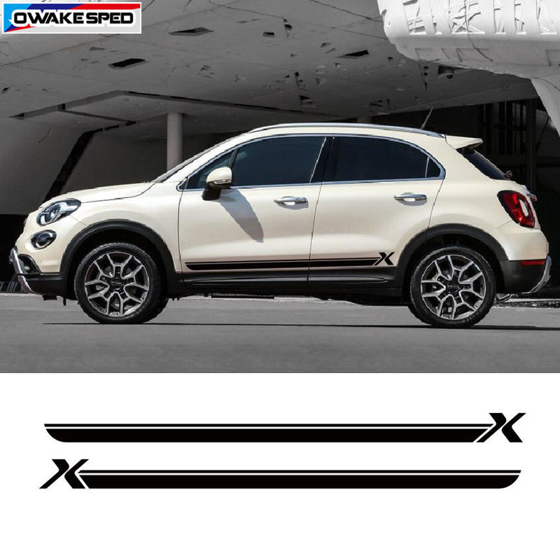 Other colours available Fiat 500x Stripe Kit Stickers decals
