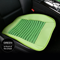 Top quality microfiber leather square four season auto seat cushion for promotion