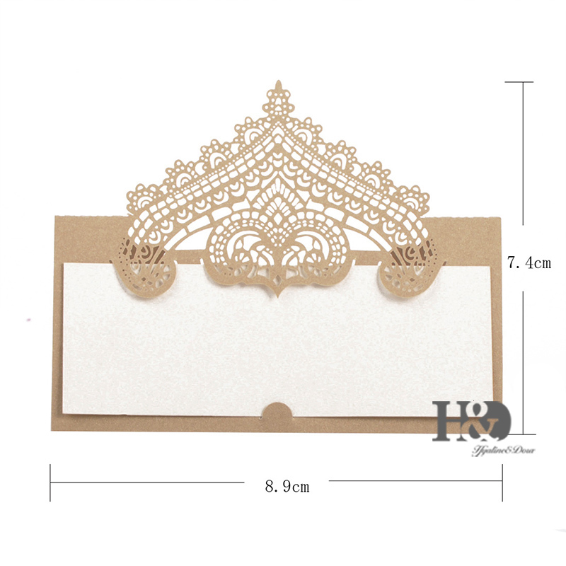 12pc Lot Champagne Crown Party Table Name Place Cards Casamento