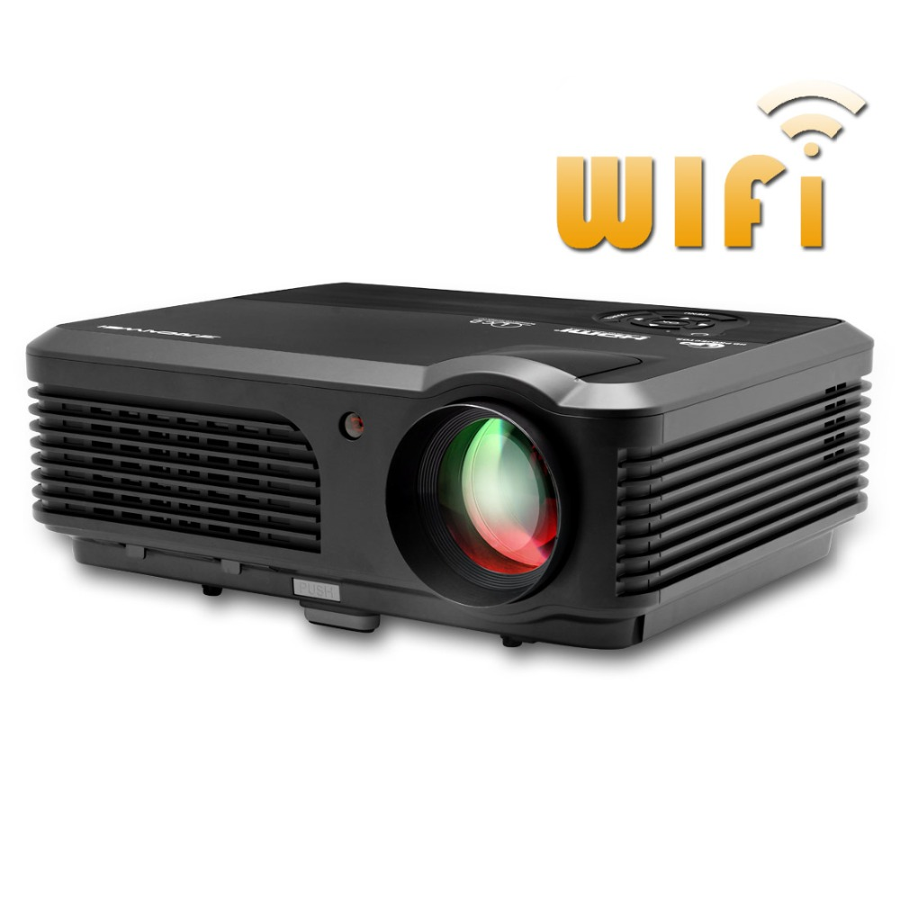 CAIWEI LED Projector WiFi Android 4 4 4 Home Cinema TV projector 4200 lumens High Brightness