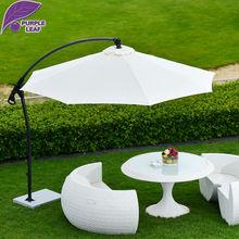 Purple Leaf Patio Umbrella Offset 9.85′ Hanging  Outdoor Market Beach  Parasol  Round/Square Aluminium  UV Resistant