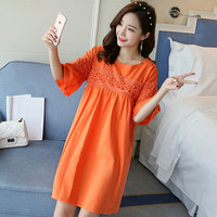 9058 2018 New Maternal Dress For Summer Cotton And Ramie