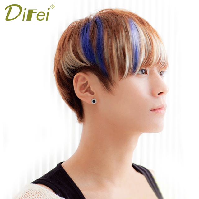 Difei Bangs Clip Hairpiece 8 Colors Synthetic Bangs Hair Extensions