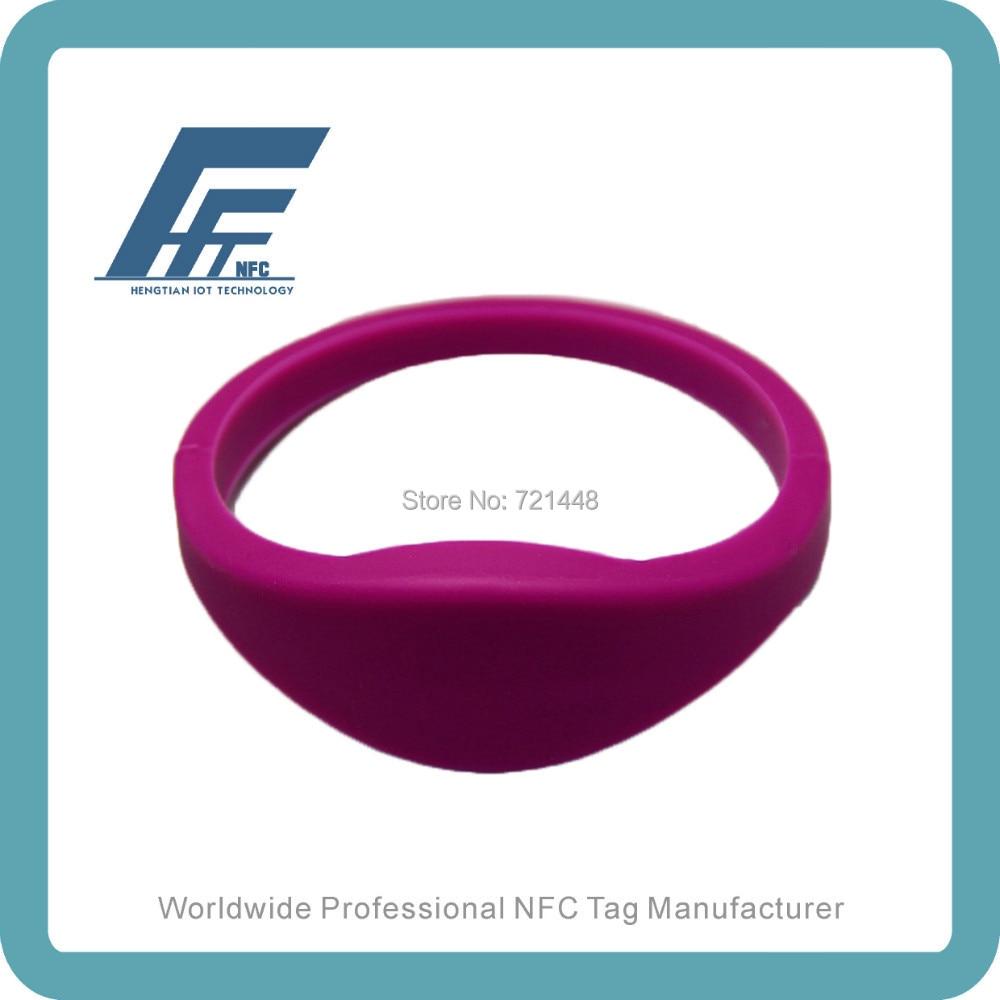 100pcs NTAG213 Purple Silicone Wristband NFC Silicone Wristband Tag Dia65mm Fits Female adults ntag213 wristband nfc wristband nfc