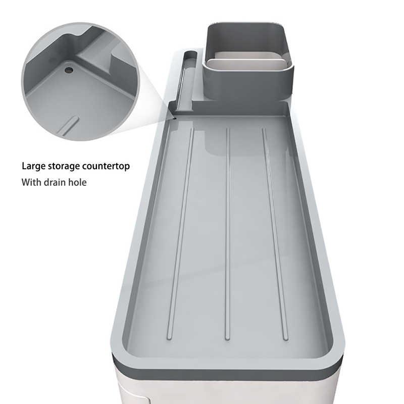 Soporte de cepillo de dientes de adsorción magnética ONEUP con 4 tazas estante de almacenamiento para el baño accesorios de baño montados en la pared