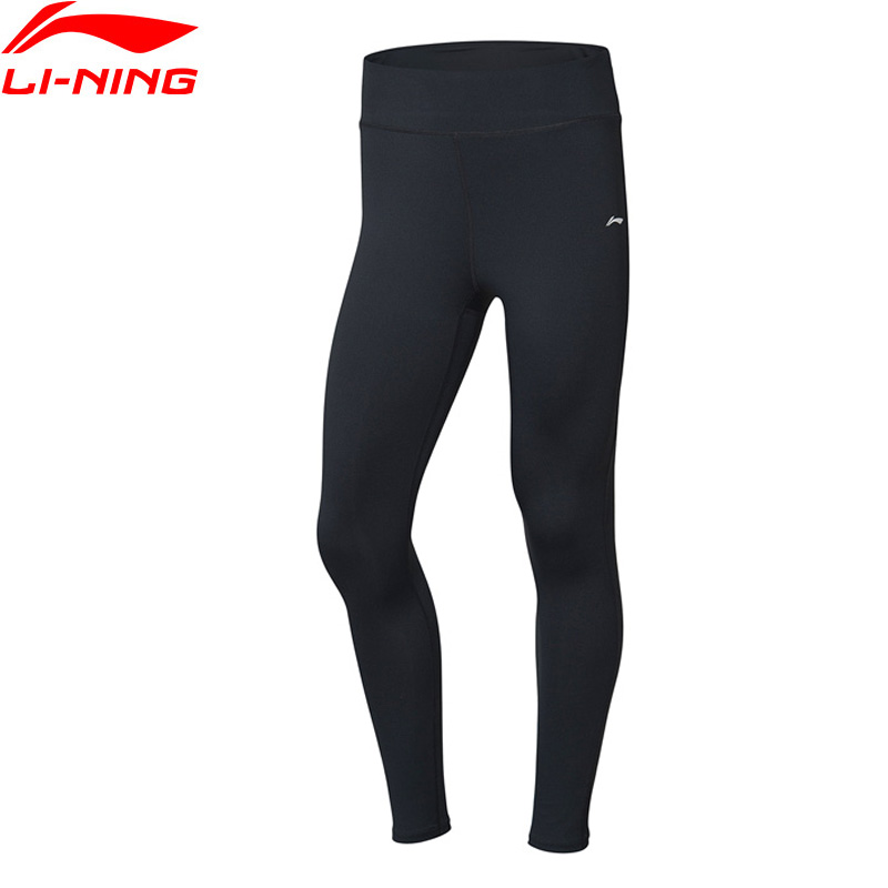 Li-Ning Women Training Sports Pants Tight Fit Base Layer 83% Polyester 17% Spandex Li Ning LiNing Sport Trousers AULP052 WKY223