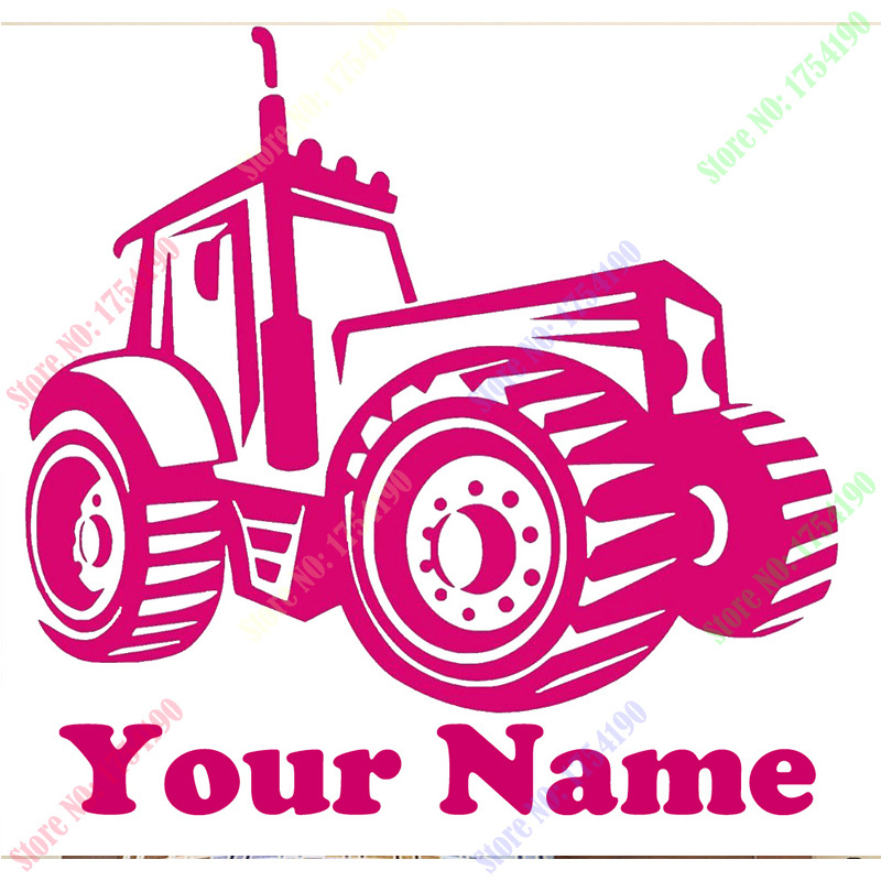 Personalized Name & Farm Tractor Vinyl Wall Decal Sticker Home Decor