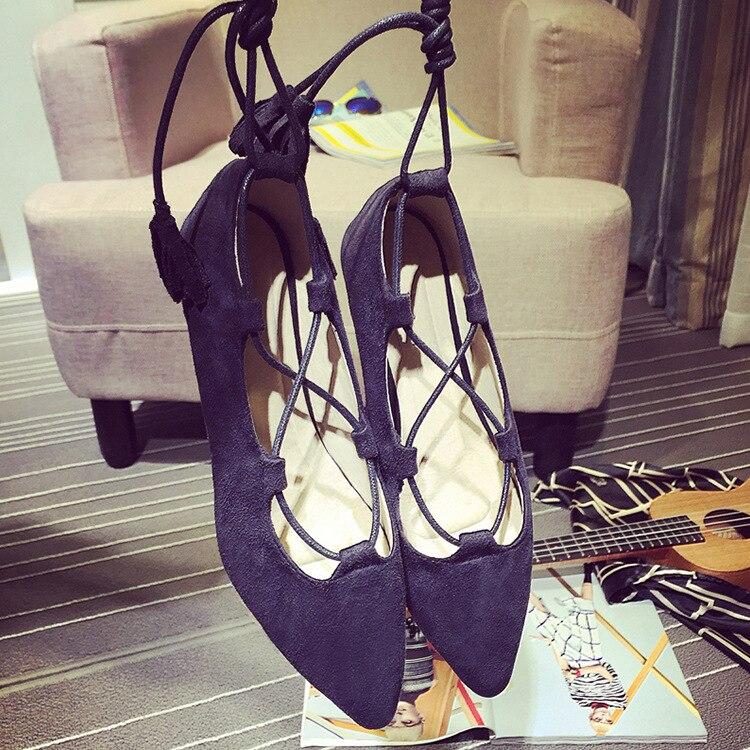 Sangles Noir Plat Coréen Croisées Mode Des De jaune D'été gris Pointues Nouvelles 2018 Femmes Chaussures q7vqzPprW