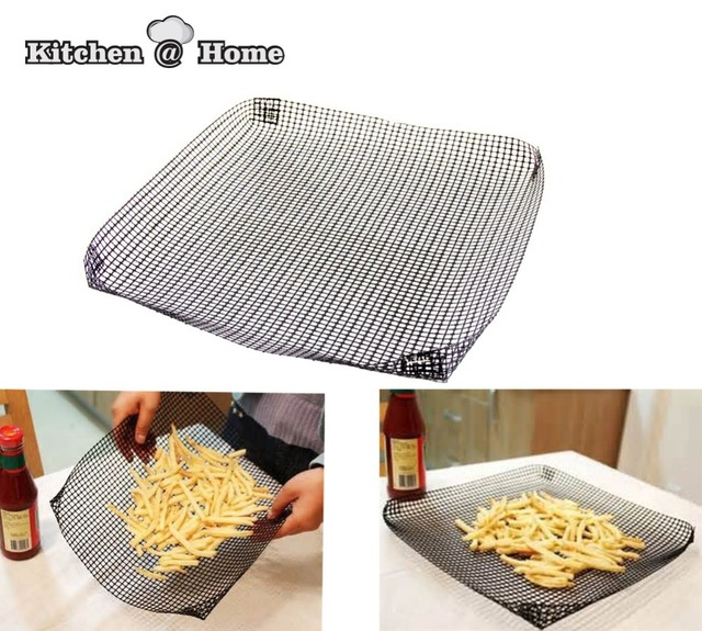 Non Stick Baking Reusable Pizza Oven Crisping Mesh Net