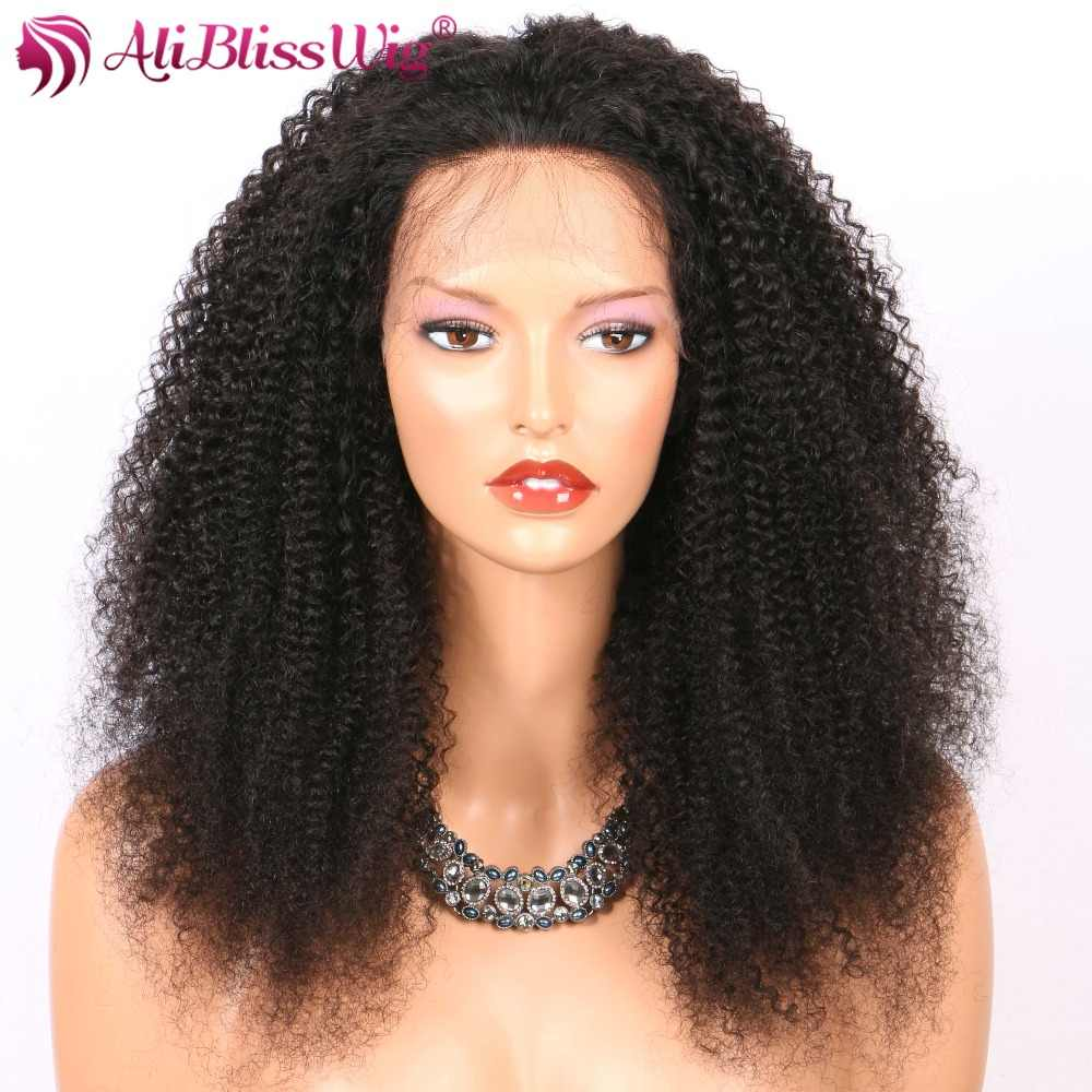 Brazilian 13x4 Afro Kinky Curly Human Hair Wigs Black Women Lace Front Human Hair Wigs Pre Plucked Lace Front Wig Baby Hair Remy