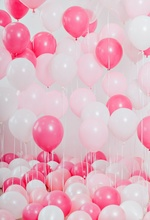 Laeacco Pink Balloons Birthday Anniversary Party Decor Child Portrait Photo Backdrops Photography Backgrounds For Studio
