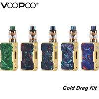VOOPOO Gold Frame Drag TC Kit with 157W Super Mode Box Mod Vape and Uforce Tank 5ml Electronic Cigarettes Drag 157W Kit