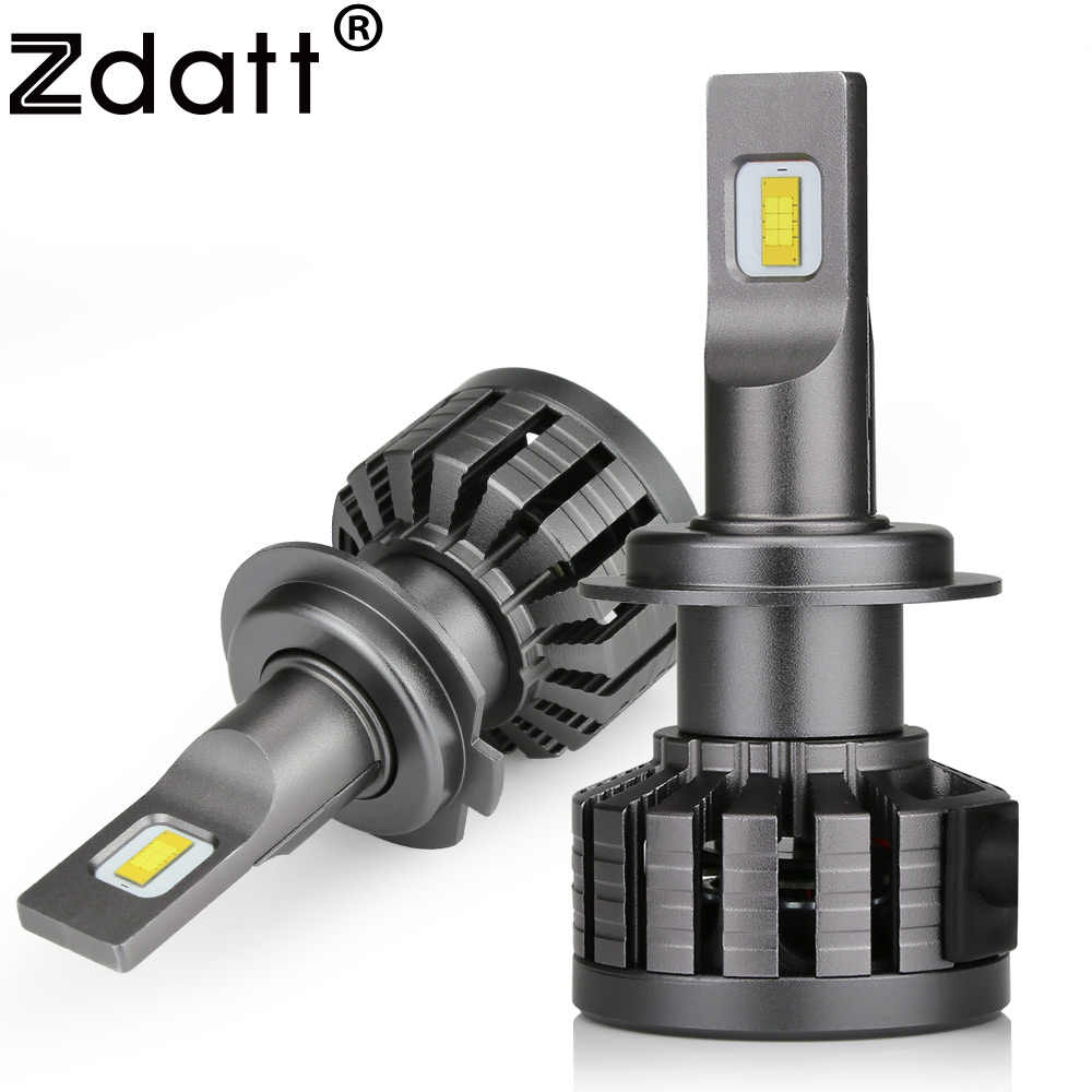 Zdatt Car Headlight Bulb H11 H8 H9 9005 9006 HB3 HB4 H7 LED H4 H1 HB2 100W 12000LM 6000K Flip LED Chip Light Automobiles 12V 24V