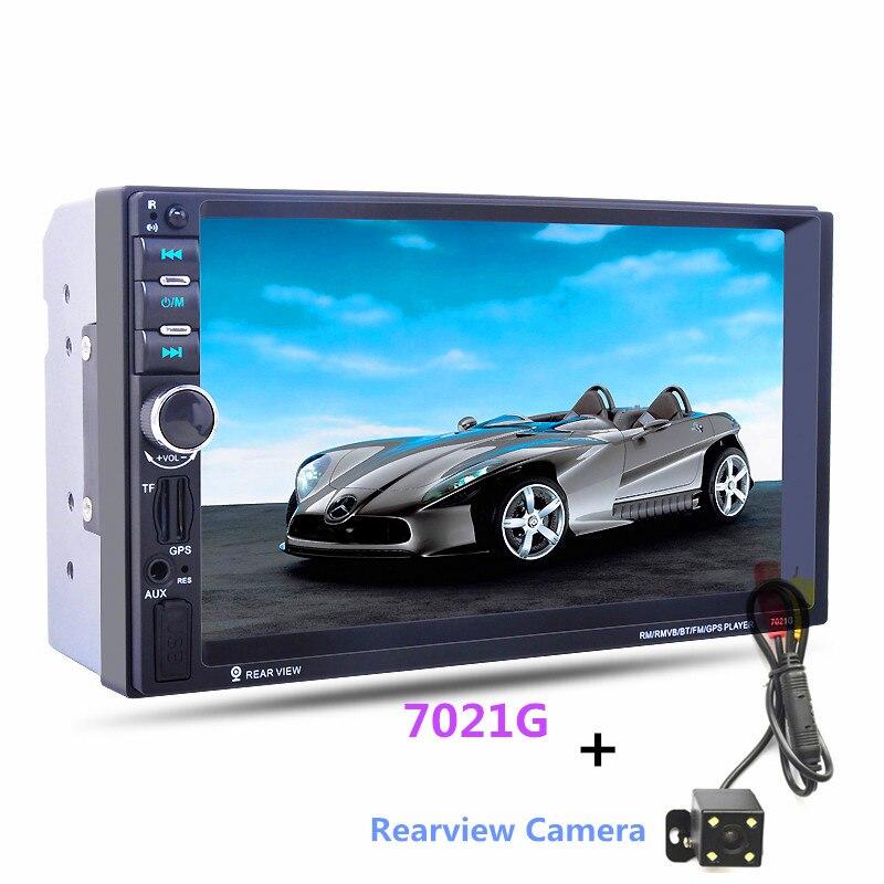"imágenes para 7 ""Pantalla táctil 7021G 2 Din Coche Mp5 de Navegación GPS Bluetooth Auto Multimedia Player con FM Radio Cámara de Visión Trasera remoto"