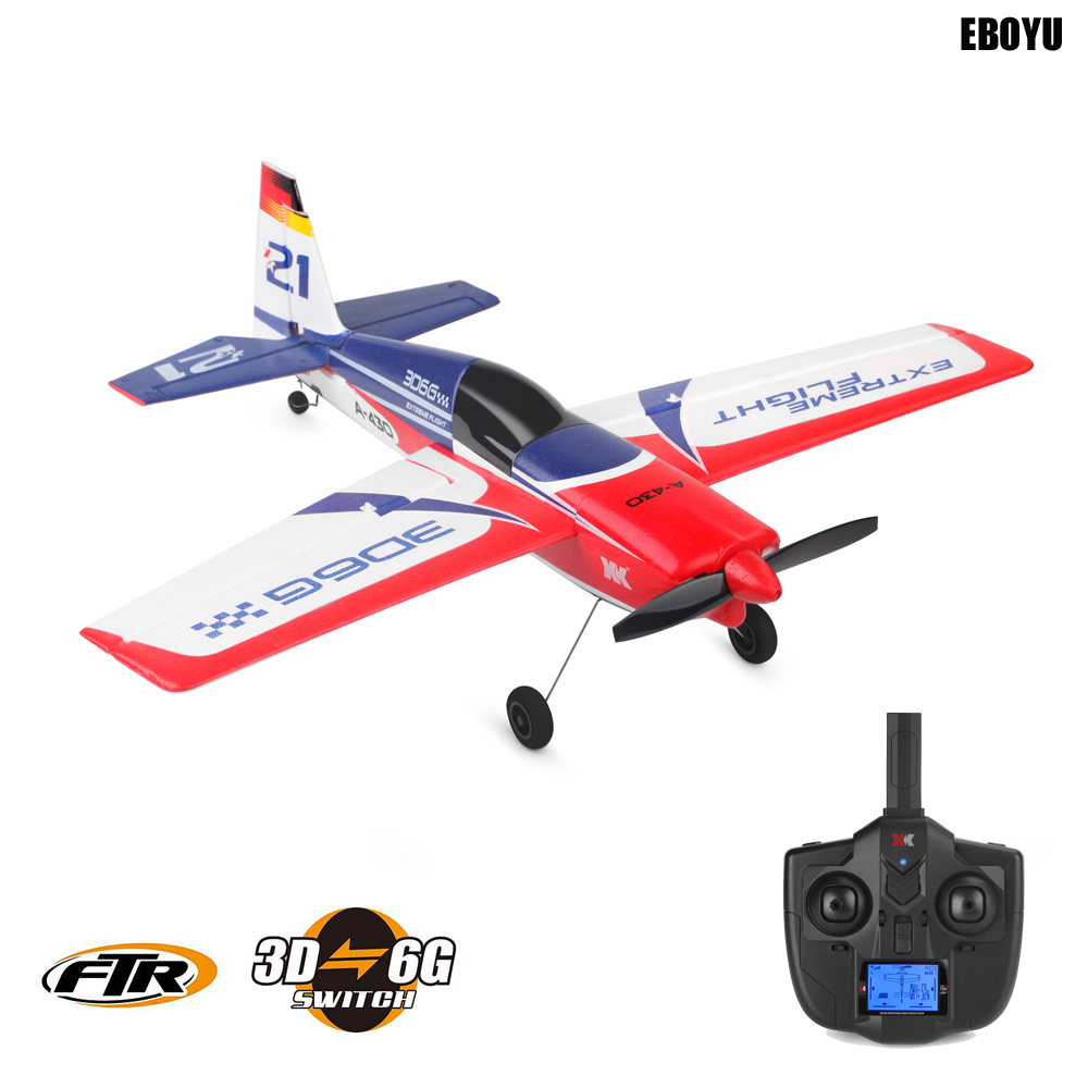 XK A430 2.4G 5CH Brushless Motor 3D6G System RC Airplane 430mm Wingspan EPS Aircraft Compatible Futaba S-FHSS RTF цена