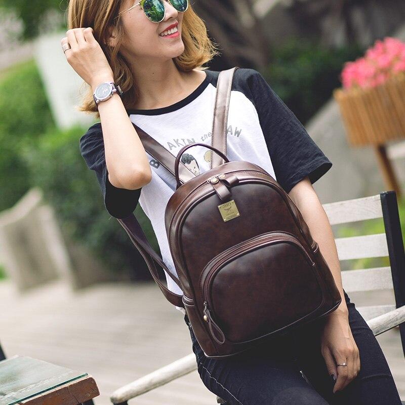 pu mochilas de couro para Size : L27*w13*h31cm