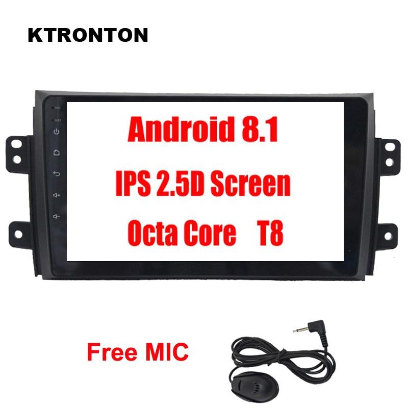 Lecteur DVD de voiture 2.5D IPS 8 octa-core Android 8.1 pour Suzuki SX4 2006-2012 avec Glonass GPS Radio Bluetooth miroir lien Wifi carte