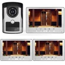 DIYSECUR 7 pulgadas Teléfono Video Atado con alambre Timbre de Intercomunicación de Vídeo Impermeable Al Aire Libre IR de La Visión Nocturna Sistema de Cámara de Seguridad Inicio