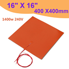 1400w 240V 400 x 400mm Silicone Heater Bed Heater Pad for 3D Printer Without Hole Heating Pad Orange 3D Printer Accessories