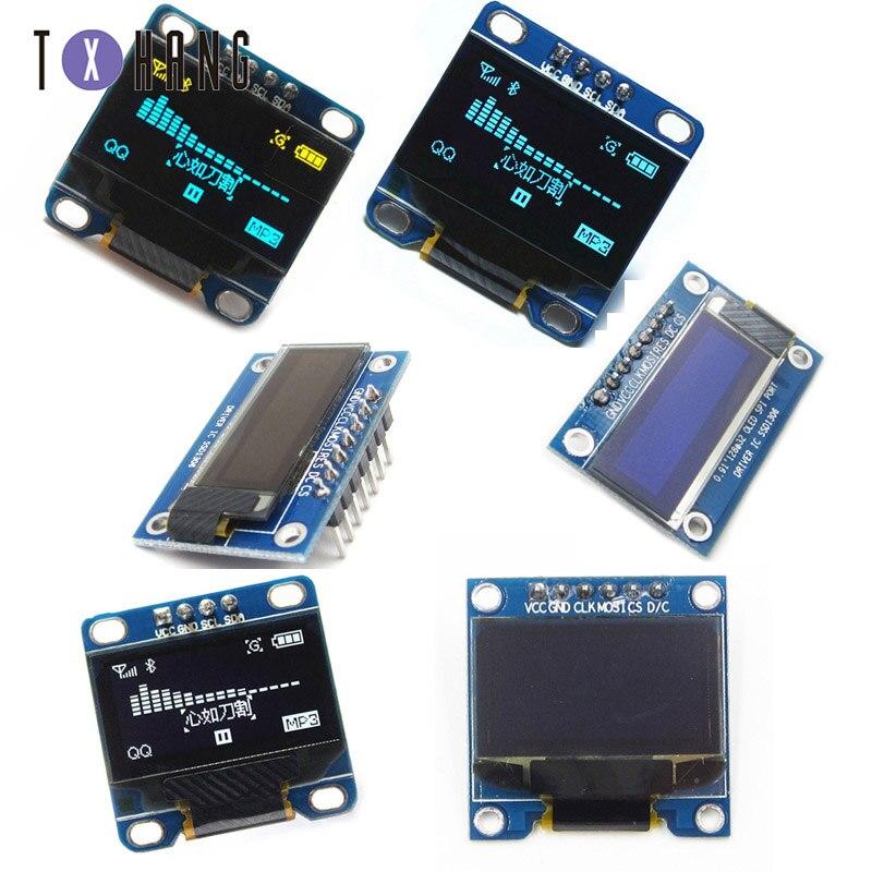 0,96/0,91 дюймов IIC Серийный цвет желтый, синий; размеры 34–43 OLED Дисплей модуль 128X64 I2C SSD1306 12864 ЖК-дисплей Экран доска 0,96
